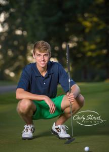 a senior guy golf course