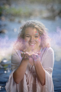 senior girl artist colors senior photographer